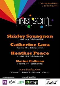 """Programme du festival lesbien de Lausanne """"Ainsi soit'L"""""""
